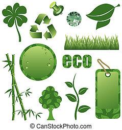 komplet, zielony