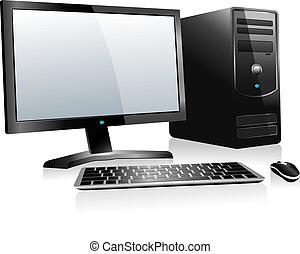 komputer, 3d, desktop