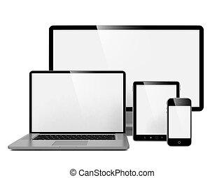 komputer, laptop, głoska.