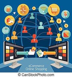 komputer, zakupy, hydromonitor, online