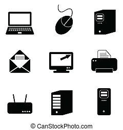 komputerowa technologia, ikony