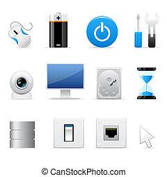 komputery, ikony