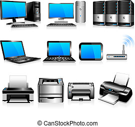 komputery, technologia, drukarze