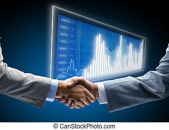 komunikacja, diagram, handlowy, tło, pojęcia, zatrudnienie, przyjaciele, przyjacielski, zbiorowy, porozumienie, przyjaźń, biznesmen, traf, transakcja, czarnoskóry, handel, początki, wystawa, ciemny, finanse