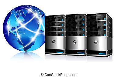 komunikacja, servery, internet
