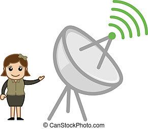 komunikacja, wektor, antena