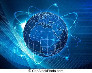 komunikacje, globalny, przewóz, tło