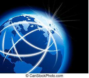 komunikacje, kula ryczałt, dookoła, świat