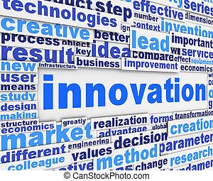 konceptualny, afisz, projektować, innowacja