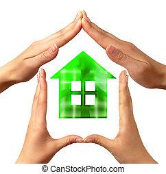 konceptualny, dom, symbol