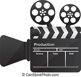 konceptualny, film aparatu fotograficzny, kino