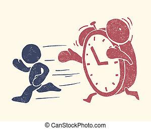 konceptualny, ilustracja, czas