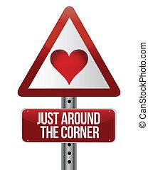 konceptualny, miłość, droga znaczą