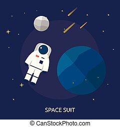 konceptualny, przestrzeń, projektować, ilustracja, garnitur