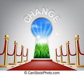 konceptualny, zmiana, ilustracja