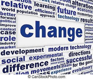 konceptualny, zmiana, tło