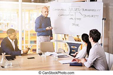 konferencja, handlowy, towarzystwo, brainstorming, walory, pokój, grupa, egzekutorzy
