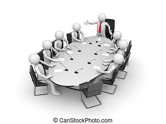 konferencja, zbiorowy, spotkanie pokój