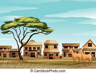 konie, dom
