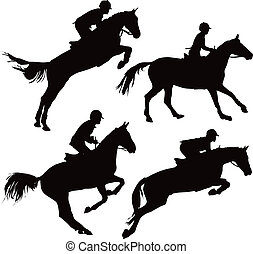 konie, skokowy, jeźdźcy