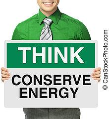 konserwować, energia