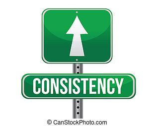 konsystencja, projektować, droga, ilustracja, znak