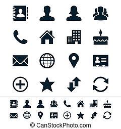kontakt, ikony