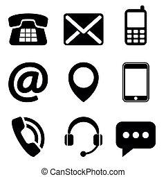 kontakt na, ikony