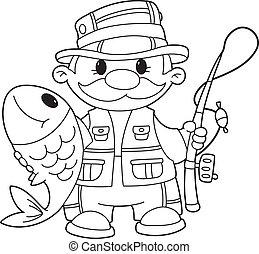konturowany, rybak