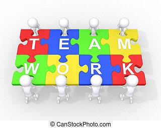 kooperacja, teamwork, pojęcie, przewodnictwo