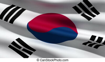 koreańska bandera, południe