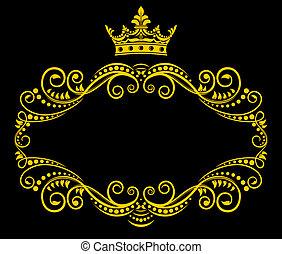 korona budowa, królewski, retro