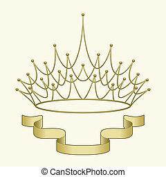 korona, chorągiew