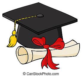 korona, czarnoskóry, dyplom, absolwent