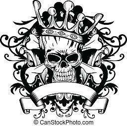 korona, czaszka