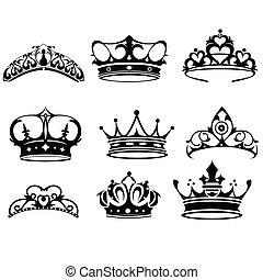 korona, ikony