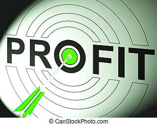 korzyść, handlarski, powodzenie, handlowy, widać