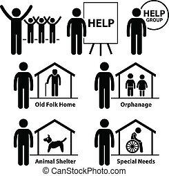 korzyść, nie, towarzyska służba, ochotnik