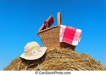 kosz, lato, piknik