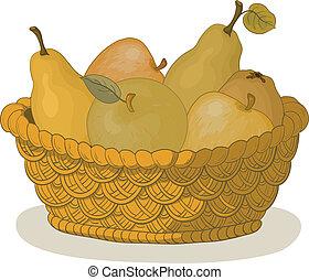 kosz, owoce