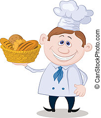 kosz, piekarz, bread
