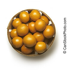 kosz, pomarańcze