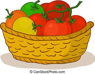 kosz, pomidory