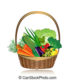kosz, warzywa
