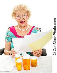 koszt, troska, recepta, medyczny, wysoki, lekarstwa