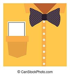 koszula, do góry, łuk, nuta, zamknięcie, krawat, formalny