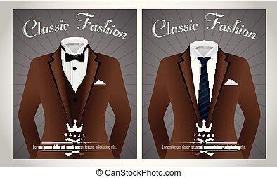 koszula, handlowy, czarnoskóry, szablon, garnitur, krawat, biały, chorągiew