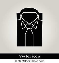 koszula, mężczyźni, garnitur, krawat, ikona, formalny