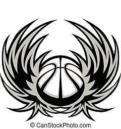 koszykówka, skrzydełka, szablon