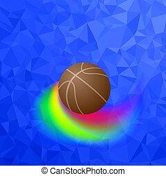 koszykówka, sport zaopatrzenie, piłka, projektować, pomarańcza, icon., element